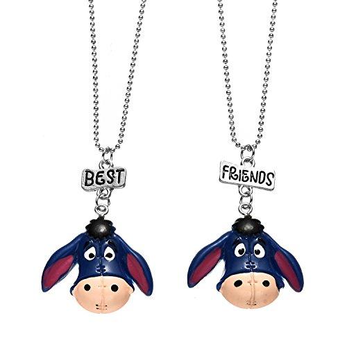 (Pibupibu 2 Packs Best Friends Kids Children Resin Pendant Necklace)