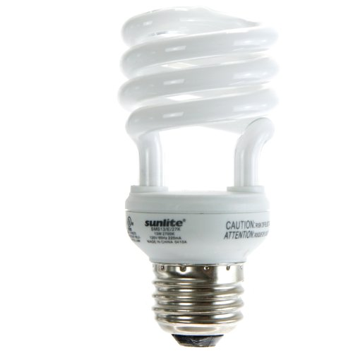 Light Lamp Bulb Mdt (Sunlite SMS13/65K/CD4 13 Watt Super Mini Spiral Energy Saving CFL Light Bulb Medium Base Daylight Carded 4 Pack)