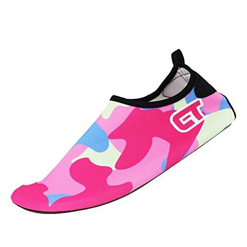 SENFI Jungen Mädchen Wasser Schuhe Mutifunctional Barfuß Quick Dry Aqua Schuhe Für Strand Pool Übung (Kleinkind / Little Kid / Big Kid) C.pink