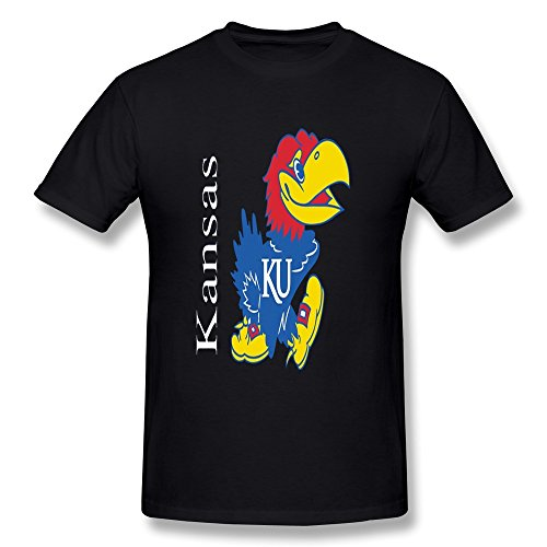 (LianJian NCAA Kansas Jayhawks Classic Team Wordmark Men's T-Shirt Large Black Mens)