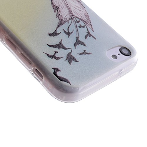 MOONCASE für iPhone 5C Case TPU Silikon Tasche Schutzhülle Cover Etui Case Hülle Schale X08
