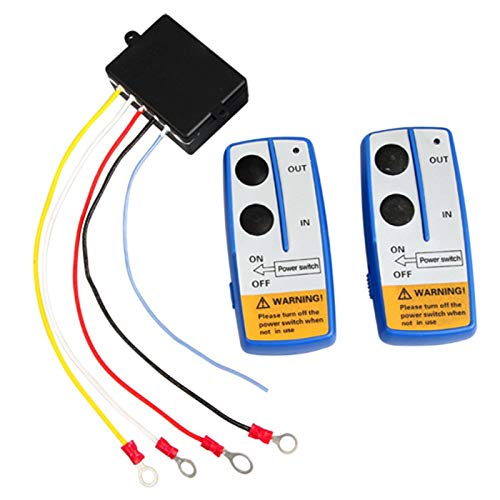 Qook 2pcs 12V Recovery Wireless Winch Remote Control Handset Switch by Qook