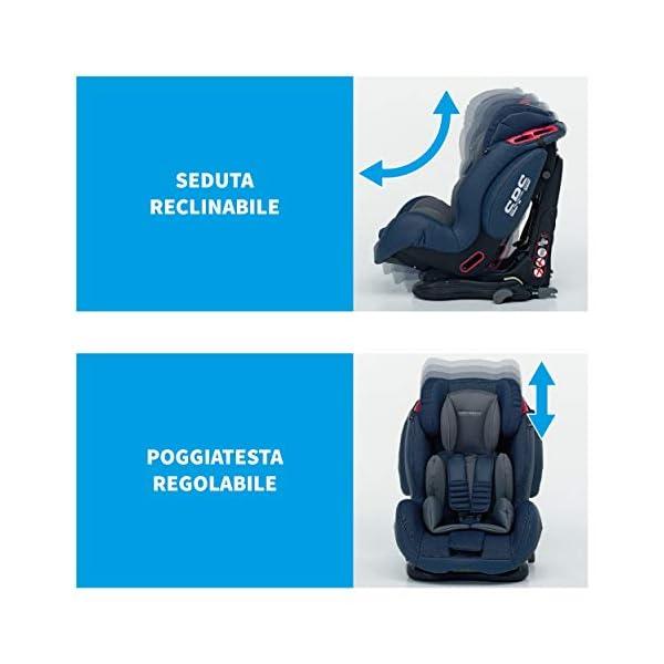 Foppapedretti Isodinamyk Seggiolino Auto ISOFIX, Gruppo 1/2/3 (9-36kg), per Bambini da 9 Mesi Fino a 12 Anni, Nero… 4