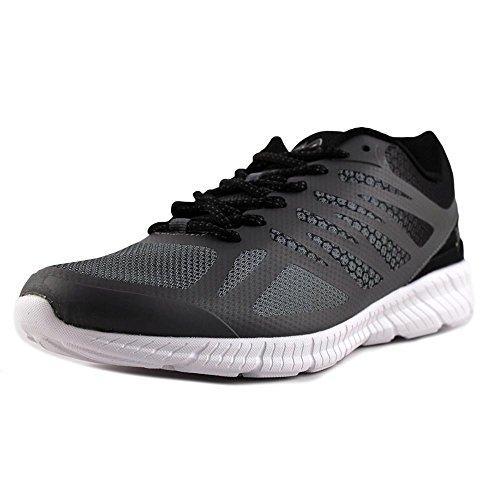 Image of the Fila Men's Memory Speedstride Running-Shoes, Castlerock/Black/Metallic Silver, 10 D US