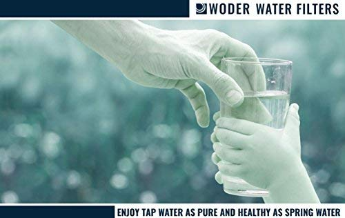 Woder 10K-Gen3 Ultra High Capacity Direct Connect Water Filtration System - Under Sink Filter Premium Class I - Removes Chlorine, Lead, Chromium 6, Heavy Metals, Bad Tastes, Odors And Contaminants