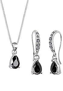 Elli Classic 0906491411_45 - Juego de joyas de plata con circonita