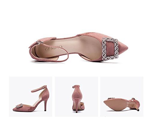 Stiletto Elegant Sandals Female Dream Size Pink Comfortable High Retro Fashion Heel Color Mouth Summer Pointed 38 Shallow Heels dIHqPfwH