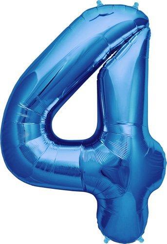 Number 4 - Blue Helium Foil Balloon - 34 inch by Northstar Balloons [並行輸入品]   B01N0QKDII
