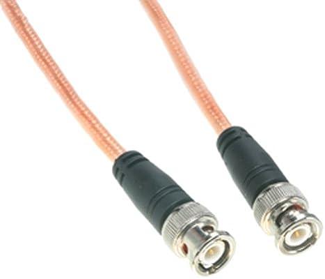 Amphenol co-142bncx200 – 010 RG142 alta temperatura cable coaxial, BNC macho a macho, 10 , negro
