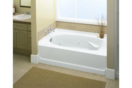 Ensemble 60u0026quot; X 36u0026quot; Whirlpool Tub Drain Location: Left, ...