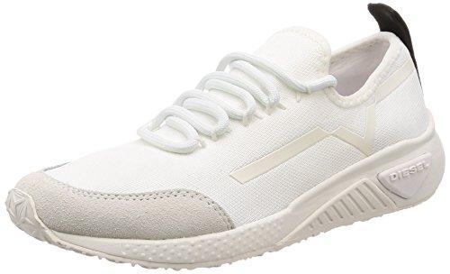 - Diesel Women's SKB S-KBY Stripe W-Sneakers, Star White, 7.5 M US