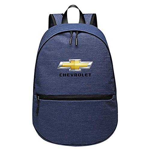 Chevrolet Handbag - Chevrolet Unisex 2019 Fashion Teen Backpack Blue