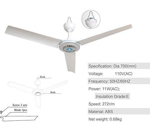 28'' Inch 110V AC electric Ceiling Fan Energy Saving Indoor Ceiling Fan Outdoor gazebo ceiling fan by sunlar (Image #1)