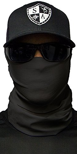 SA CO Official TACTICAL BLACK Face Shield, Perfect for All Outdoor Activities, Protects Face Against the Elements (Black The Shield)