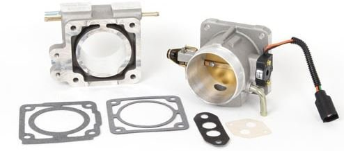 BBK 1500 70mm Throttle Body And EGR Spacer Plate Kit - High Flow Power Plus Series for Ford Mustang -