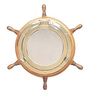 76 2 cm n utica barco rueda ojo de buey espejo for Espejo ojo de buey