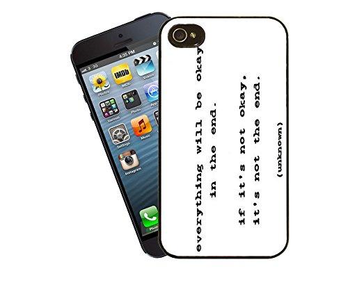 Zitate und inspirierende Worte 001 Telefon Etui - passen diese Abdeckung Apple Modell iPhone 5 / 5 s (nicht 5c) - von Eclipse-Geschenk-Ideen