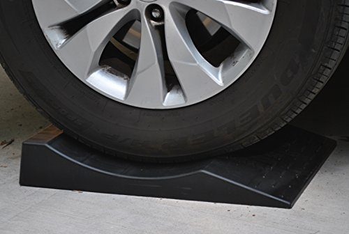 MAXSA 37353 Park Right Tire Saver Ramps for Flat Spot Prevention and Vehicle Storage (Set of 4), Black by Maxsa Innovations (Image #1)