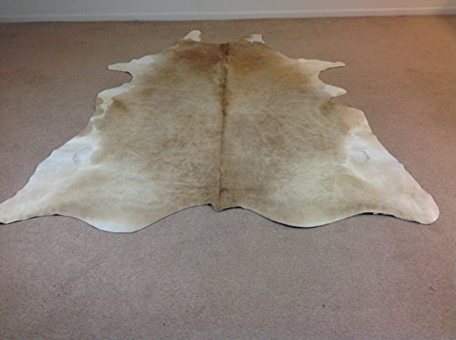 Tango Cowhides Cowhide Rug, Butter Cream/White by Tango Cowhides