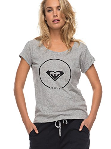 Roxy Bobby Twist Essential Camiseta, Mujer gris (highrise heather)