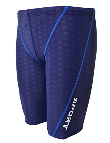 EASEA Men`s Rapid Swim Splice Quick Dry Jammer Swimsuit Blue - Jammers Blue Royal