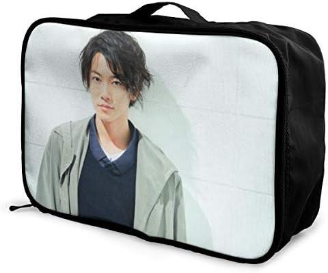 Satoh Takeru 旅行用トロリーバッグ 軽量 ポータブル荷物バッグ 衣類収納ケース キャリーケース 固定 出張パッキング 大容量 トラベルバッグ ボストンバッグ キャリーオンバッグ 旅行用サブバッグ