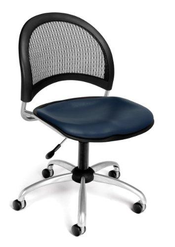 OFM 336-VAM-605 Moon Swivel Chair with Vinyl Seat, Navy