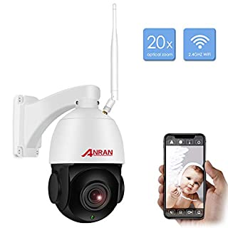1080P PTZ WiFi Security Home Outdoor Camera,Wireless CCTV IP Surveillance Pan Tilt 20X Optical High Speed Zoom Dome Camera with 32GB SD Card &Two Way Audio,98ft Night Vision,Motion Detection ANRAN