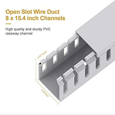 [DIAGRAM_4FR]  Cable Raceway Kit, UMTELE Open Slot Wiring Duct, Gray Cable Channel Cord  Track to Hide Cables, Wires for Computers, Desks and Shelves - 8 X 15.4  inch: Amazon.sg: Electronics | Wiring Raceway Track |  | Amazon.sg