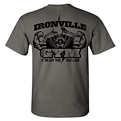 Ironville Gym Bodybuilding Biker T-Shirt