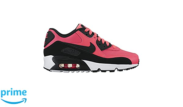 best service 23a64 e41c7 Amazon.com   Nike Air Max 90 LTR Big Kid s Shoes Racer Pink Black White  833376-600 (4 M US)   Running