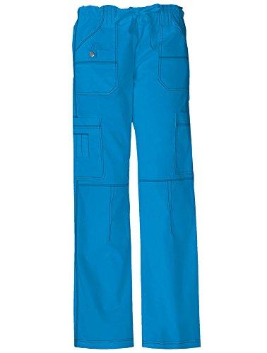 Dickies Gen Flex Women's Youtility Drawstring Elastic Waist Scrub Pant X-Small Riviera Blue ()