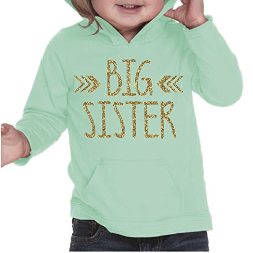 Big Sister Shirt, Baby Girl Clothes, Big Sister Gift (3T, Ice Green) by Bump and Beyond Designs