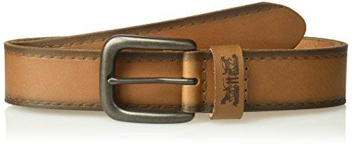 (Levi's Men's 100% Leather Belt  with Prong Buckle-Tan, Medium,)