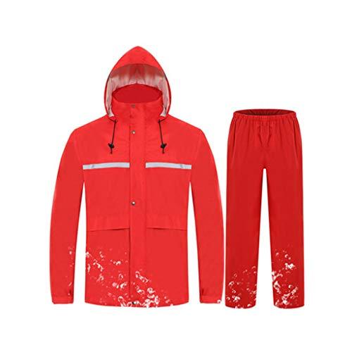 réutilisable Waterproof Combinaison taille couleur Hbwjsh femmes fluorescent Vestets vert hommes rouge L pour et imperméable divisée qzwBEwOd