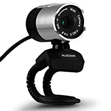 1080p Webcam , AUSDOM AW335 Web Camera with Built-in Microphone,360-Degree Swivel for Desktop/Laptop/PC