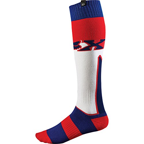 Fox Racing Fri Imperial Thick Men's MX Motorcycle Socks - White/Red/Blue/Small by Fox Racing