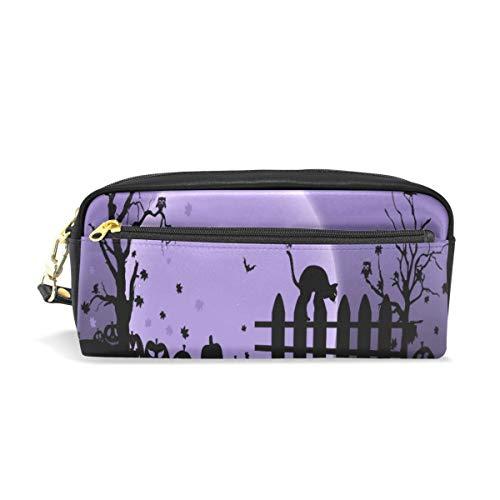 Pencil Case/Makeup Bags Happy Halloween Purple Night Big Capacity Portable Pencil Bag for -