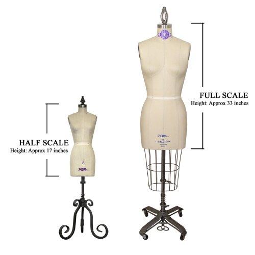 Amazon.com: Professional Miniature Half Scale Dress Form Mannequin ...
