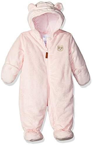 Carter's Baby Girls Bundle Up Cozy Pram with Ears, Millie Pink 6-9 Months ()