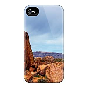 Anti-scratch And Shatterproof Desert Saguaro Phone Case For Iphone 4/4s/ High Quality Tpu Case