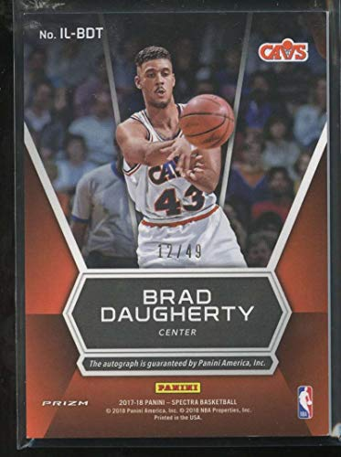 b2d7ebf636c8f Amazon.com: Brad Daugherty 2017-18 Panini Spectra Illustrious ...