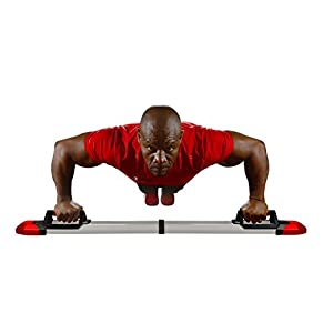 Iron Chest Master Push up Machine The Perfect Chest Workout. Fully Assembled Built in Resistance Bands. Includes Workout Programs & Nutrition Guide