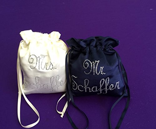 Custom Made Money Bags for Wedding Day Dollar Dance Custom names Up to 8 letters on Last name