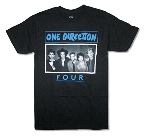 One Direction Four Band Image Adult Black T Shirt (L) (One Direction Adult Clothing compare prices)