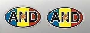 3 D mini Signo distintivo nacional Andorra Pegatina De Coche