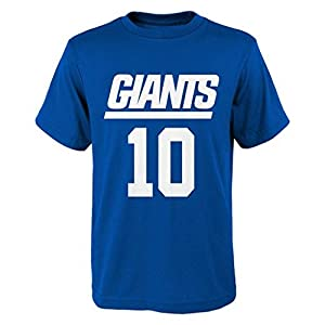 NFL Eli Manning # 10 Youth Boys 8-20 Name & Number Short Sleeve Tee
