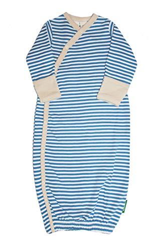 Parade Organics Kimono Gowns - Signature Prints Stripes - Sky Blue 0-3 -