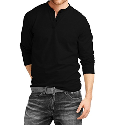 Amazon.com: Fanideaz Cotton Henley Full Sleeve T Shirts For Men ...