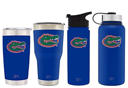 Simple Modern 18oz Summit Water Bottle - Florida Gators Vacuum Insulated 18/8 Stainless Steel Travel Mug - Florida